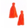 Cotton Tassels (20pcs) 1In Hot Pink